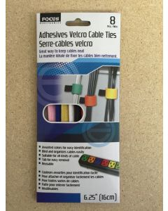 Adhesive Velcro Cable Ties ~ 8/pk
