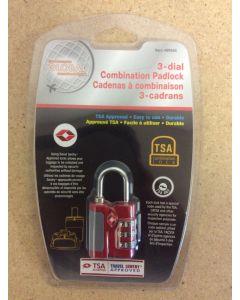 Luggage / Travel 3-Dial Combination Padlock~ TSA Approved