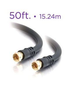 RG6 Black Coaxial Cable ~ 50' / 15.24M