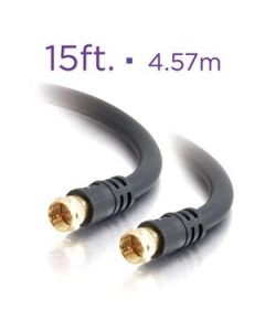 RG6 Black Coaxial Cable ~ 15' / 4.57M
