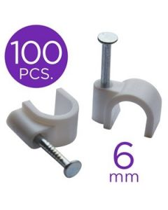 eLink Nail-In Cable Clips - 6mm ~ 100/pk