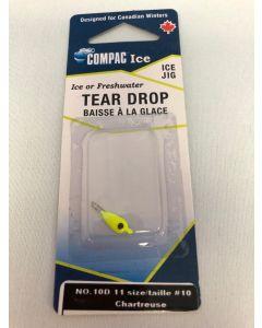 Tear Drop - Size 10 ~ Chartruese