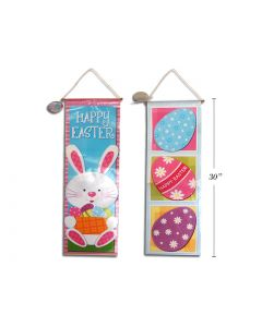 """Easter Non-Woven Printed Easter Banner w/Pole & String ~ 30""""L"""