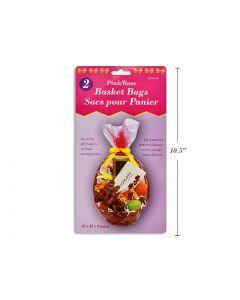 "Easter Pink Basket Bag - 22"" x 25"" x 8"" ~ 2 per pack"
