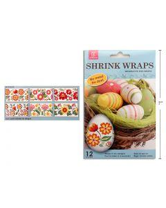 Easter Decorative Egg Shrink Wraps ~ 12 per pack
