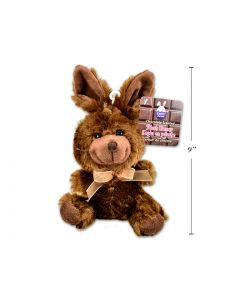 """Easter Chocolate Scented Brown Plush Bunny ~ 9"""""""