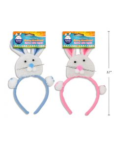 "Easter Plush Bunny Head Headband ~ 10.5"""