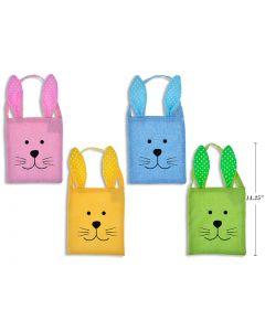 "Easter Burlap Bunny Head Tote Bag ~ 14.25""H x 7.75""W"