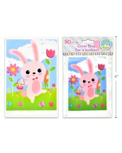 """Easter Bunny Treat Bags - 4"""" x 6"""" ~ 50 per pack"""