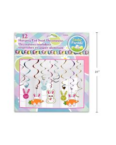 Easter Hanging Swirl Decorations ~ 12 per pack