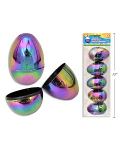 """Easter Fillable Eggs - 3.25"""" Galaxy Iridescent ~ 5 per pack"""