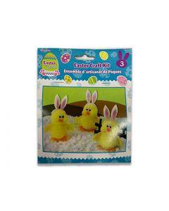 Easter Pom Pom Chick Craft Set ~ 3 per pack