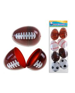 """Easter Sports Fillable Eggs - 2.25"""" ~ 8 per pack"""
