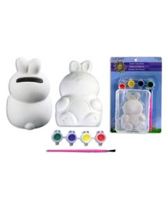 Easter Ceramic Paint Your Own Bunny Coin Bank