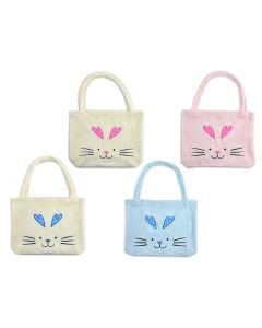 "Easter Soft Plush Bunny Head Tote Bag ~ 18"""