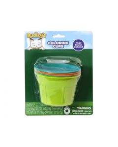 Dudley's Coloring Cups with Dye Tablets ~ 5 per pack