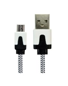 Micro USB Charge & Sync Cable - Fabric Braided ~ 6.6' / 2M
