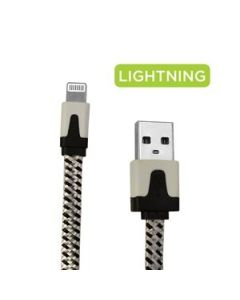 eLink Lightening USB Charge & Sync Cable - Fabric Braided ~ 6.6' / 2M