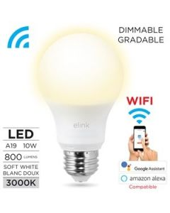 Smart WIFI A19 LED White Light Bulb - Dimmable ~ 9W