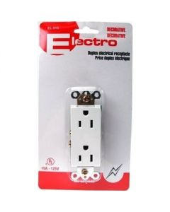 Decorative Electrical Wall Outlet ~ White