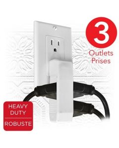 eLink 3 Outlet Space Saving Wall Tap - Heavy Duty