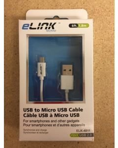 Micro Charge & Sync Cable ~ 6'