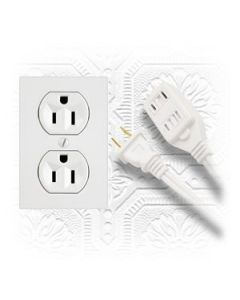 Indoor Extension Cord - Triple Outlet ~ 15' / 4.57M