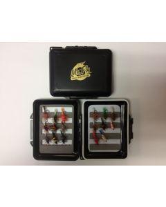 Mr Fly Waterproof & Floatable Fly Box w/ 17 Salmon Bugs
