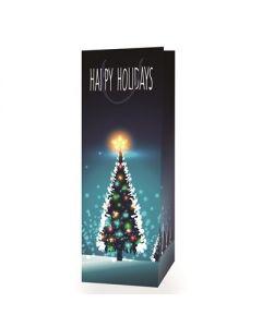 Christmas Bottle Gift Bag ~ Happy Holidays