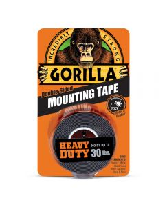 """Gorilla Heay Duty Mounting Tape ~ 1"""" x 60"""" ~ holds up to 30lbs"""