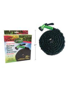 25' Tangle Free Garden Hose w/7 Function Nozzle
