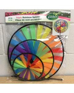 "Triple Rainbow Spinner ~ 32"" x 12"""