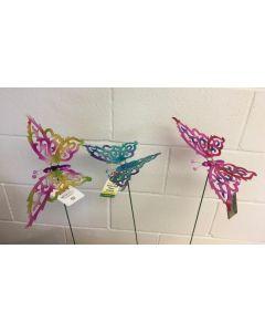 """Metallic Fluttering Butterfly Pick ~ 24"""""""