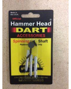 Hammerhead Darts GH Shaft ~ Spinners Silver
