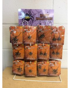 Halloween Spider Web Pins / Earrings / Necklace