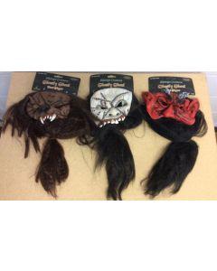 Halloween Chinless Hairy Head Mask