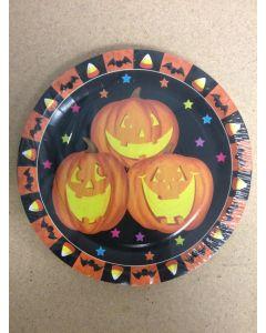 "Halloween Paper Plates - 9"""