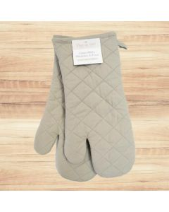 Oven Mitt - 2 pieces ~ Taupe