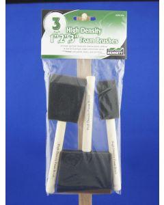 Bennett High Density Foam Brush Set ~ 3 per pack