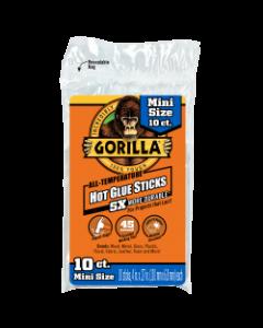 """Gorilla Hot Glue Sticks for Glue Guns - 4"""" Mini ~ 10 per pack"""