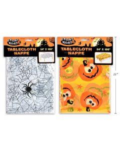 "Halloween Printed Plastic Tablecloth ~ 54"" x 108"""