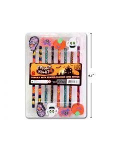 Halloween Pencils w/Eraser Tops ~ 8 per pack
