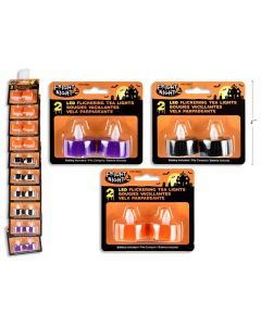 Halloween Flickering LED T-Lite Candles ~ 2 per pack