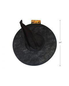 "Halloween Adult's Vinyl Witch Hat ~ 18"""