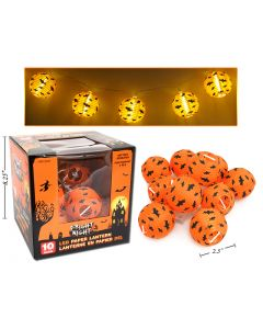 Halloween Paper Lanterns - Battery Operated  ~ 10 per pack