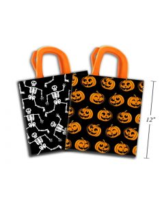 Halloween Non-Woven Coated Trick-or-Treat Bags ~ 2 per pack
