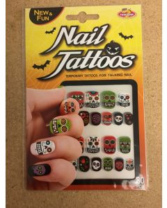 Halloween Day of the Dead Nail Tattoos ~ 80 per pack