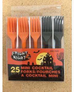 Halloween Mini Cocktail Forks ~ 25 per pack