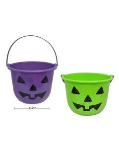 """Halloween Plastic Pumpkin Pail ~ 8-5/8"""" x 6-7/8"""""""