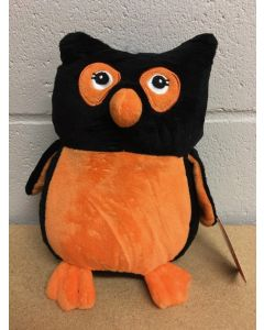 Halloween Plush Owl with Embroidered Eyes